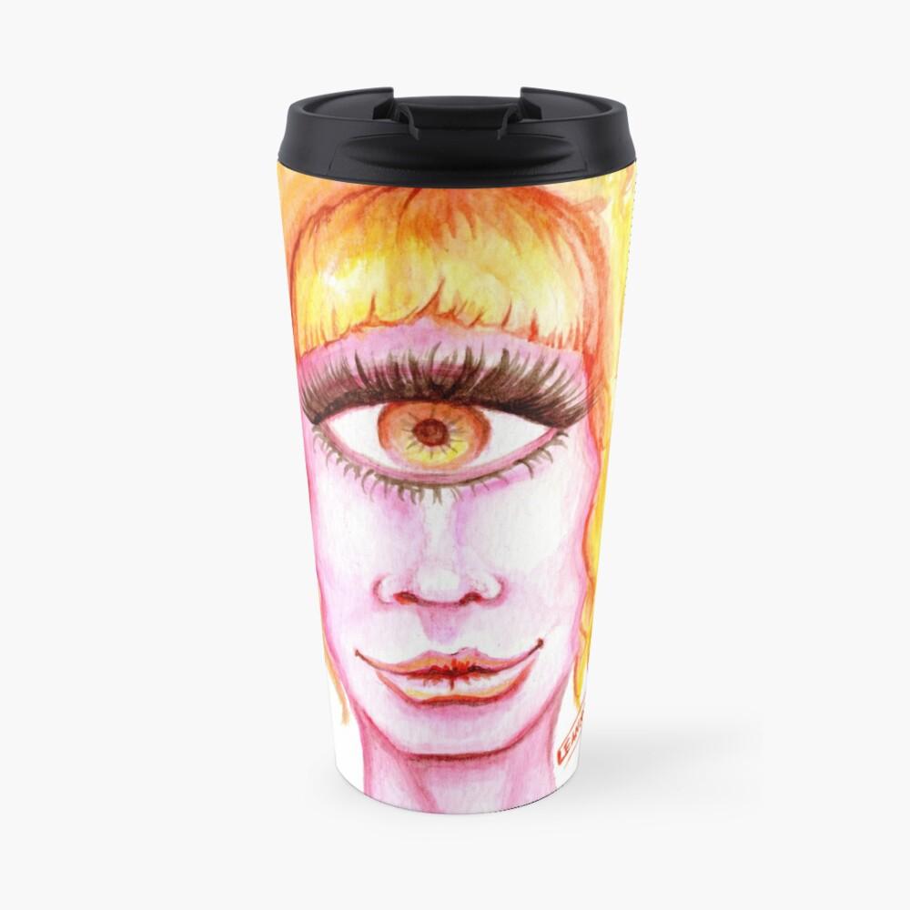 Golden Hair, Pink Skin Travel Mug