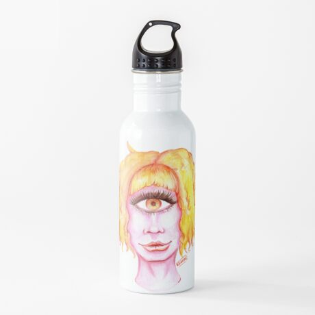 Golden Hair, Pink Skin Water Bottle