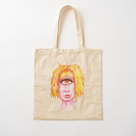 Golden Hair, Pink Skin Cotton Tote Bag