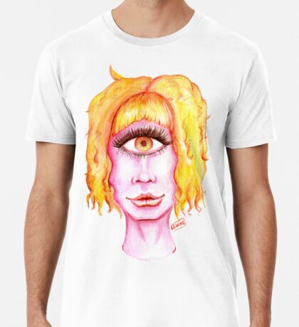 Golden Hair, Pink Skin Premium T-Shirt
