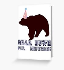 Bear Down For Midterms Greeting Card