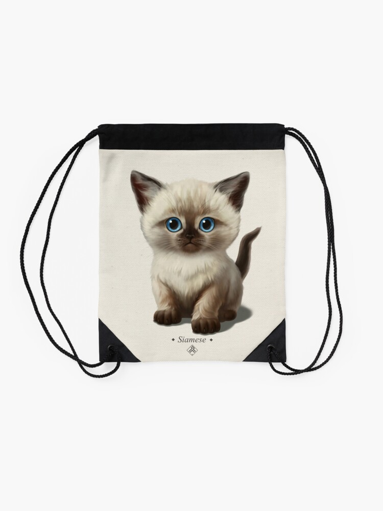 Alternate view of Cataclysm- Siamese Kitten Classic Drawstring Bag