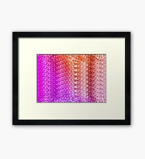 Trendy Bright Ombre Textured  Framed Print