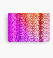 Trendy Bright Ombre Textured  Canvas Print