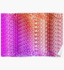 Trendy Bright Ombre Textured  Poster