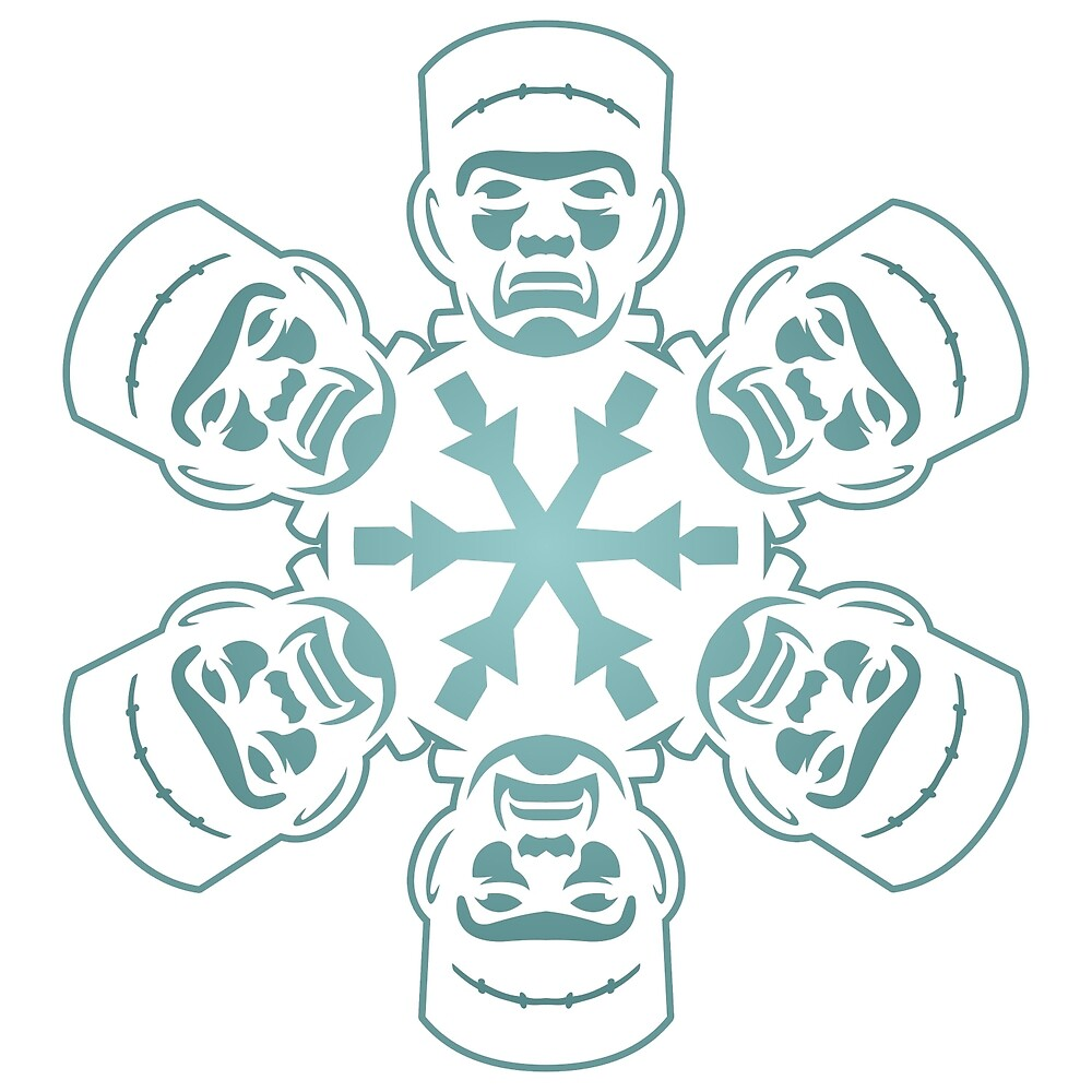 Frankenstein Snowflake by pounddesigns
