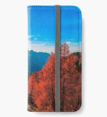 Cloudy autumn day in the italian alps iPhone Wallet/Case/Skin