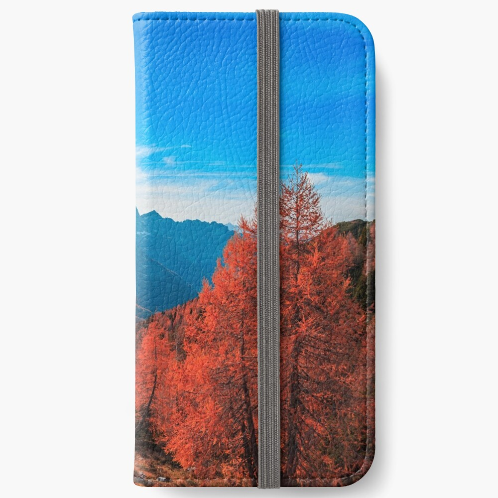 Cloudy autumn day in the italian alps iPhone Wallet