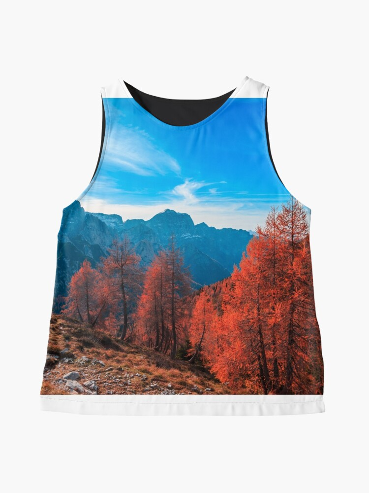 Alternate view of Cloudy autumn day in the italian alps Sleeveless Top