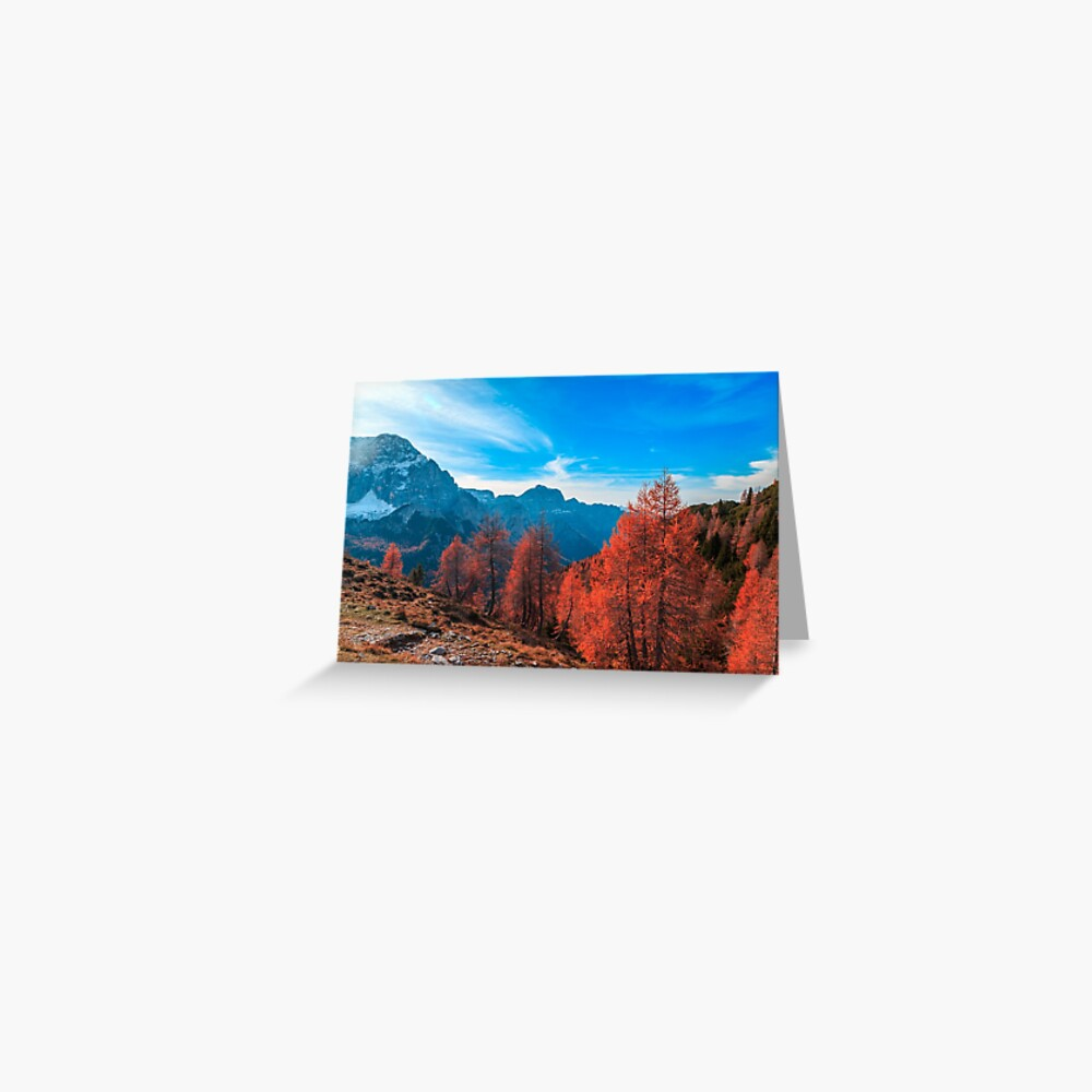 Cloudy autumn day in the italian alps Greeting Card