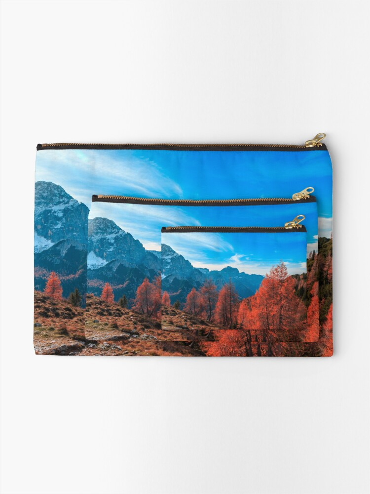 Alternate view of Cloudy autumn day in the italian alps Zipper Pouch