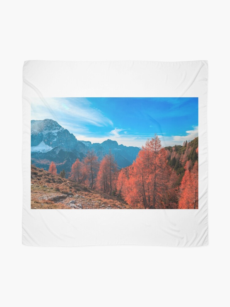 Alternate view of Cloudy autumn day in the italian alps Scarf