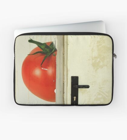 there's a tomato behind the door Laptop Sleeve