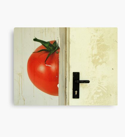 there's a tomato behind the door Canvas Print