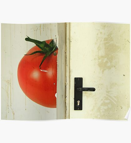 there's a tomato behind the door Poster