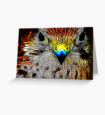 Fractual Eagle Greeting Card