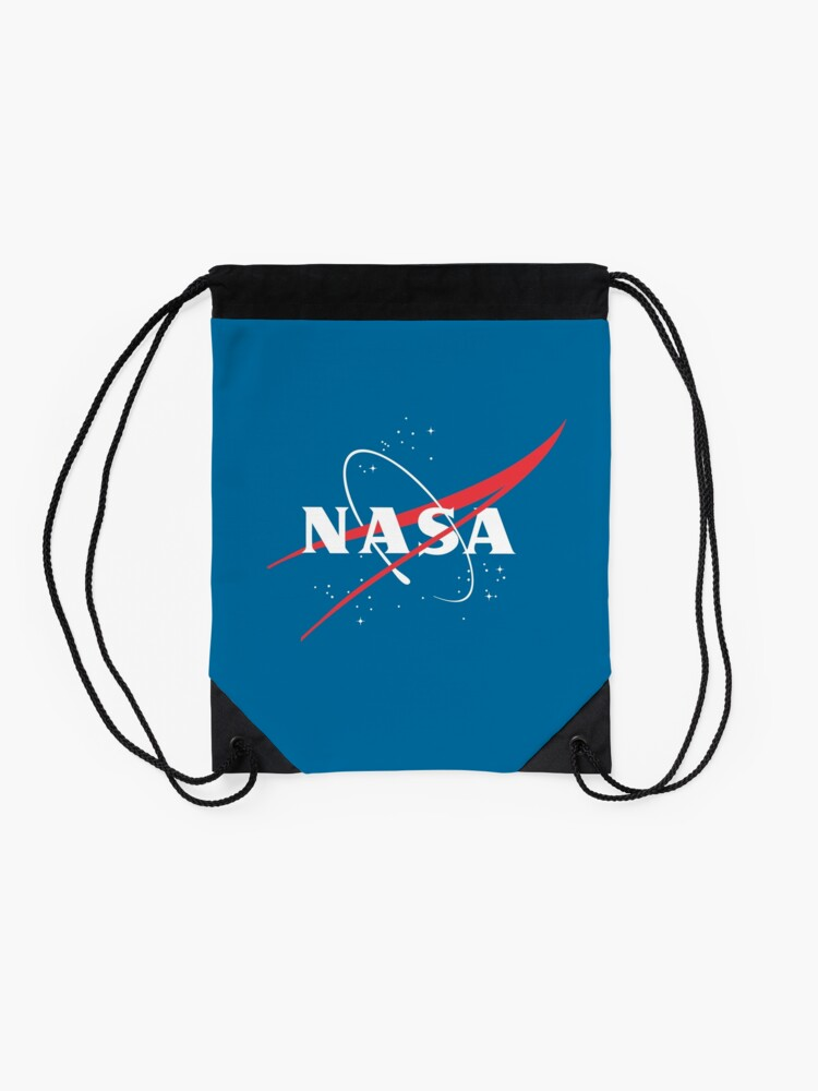 Alternate view of NASA Logo No Background Drawstring Bag