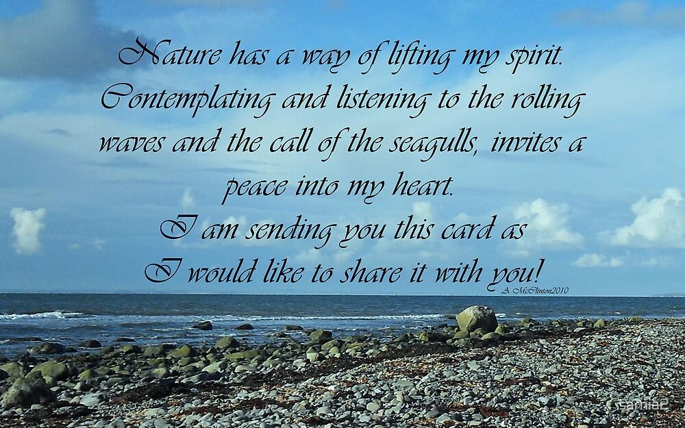 Nature has a way...inspirational card by sarnia2