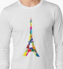 Eiffel tower abstract - Paris, France Long Sleeve T-Shirt