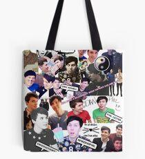 Danisnotonfire and AmazingPhil Collage Tote Bag