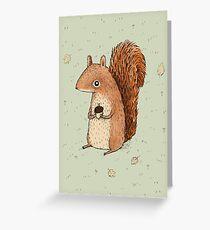 Sarah the Squirrel Greeting Card