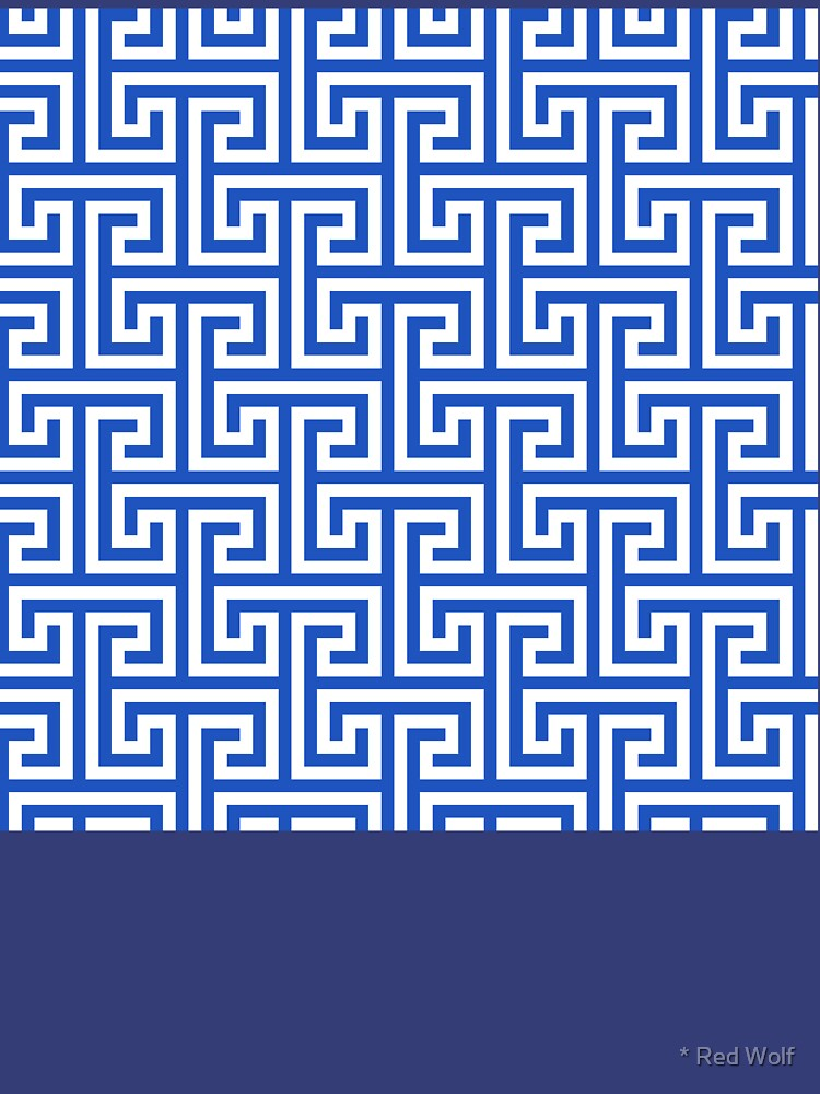 Geometric Pattern: Key Bridge Interlock Positive: Blue by redwolfoz