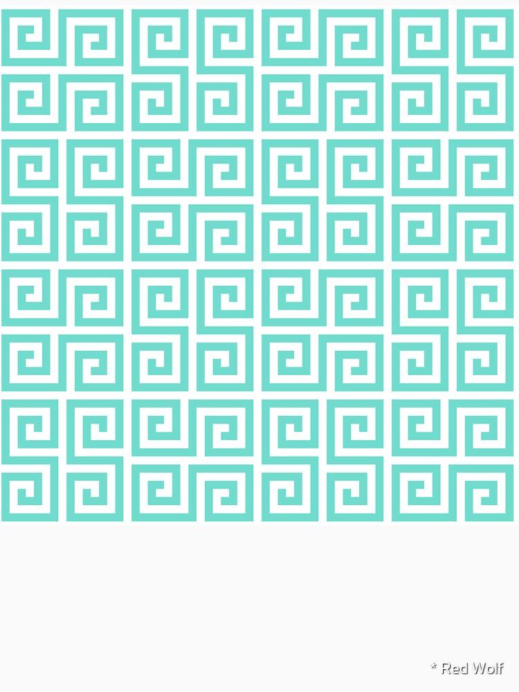Geometric Pattern: Key Serpentine: Blue by redwolfoz