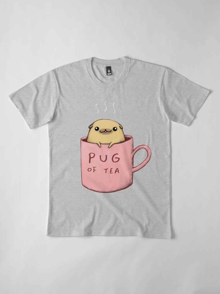 Alternate view of Pug of Tea Premium T-Shirt
