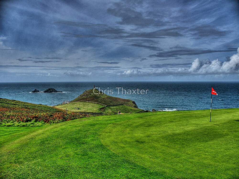 1st Green at Cape Cornwall Golf Club by Chris Thaxter