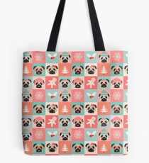 Christmas Pugs - Pastel  Tote Bag