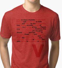 V for Vendetta- V Speech Tri-blend T-Shirt