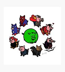 Pig Avengers Photographic Print