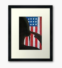 Stand Strong: American Patriot Framed Print