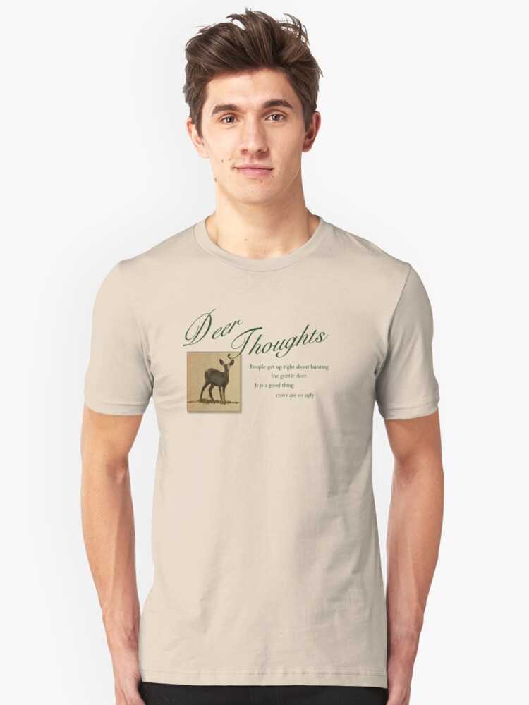 Deer Thoughts Unisex T-Shirt Front