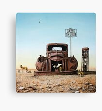Looking For Fuel Canvas Print