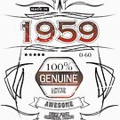 1959 - happy birthday 60 years old by Cimbart