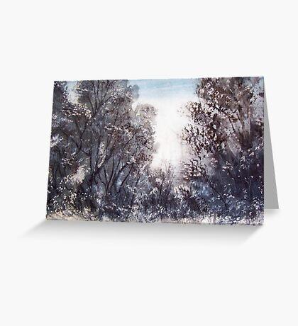 Morning Snow, Thredbo, Australia Greeting Card