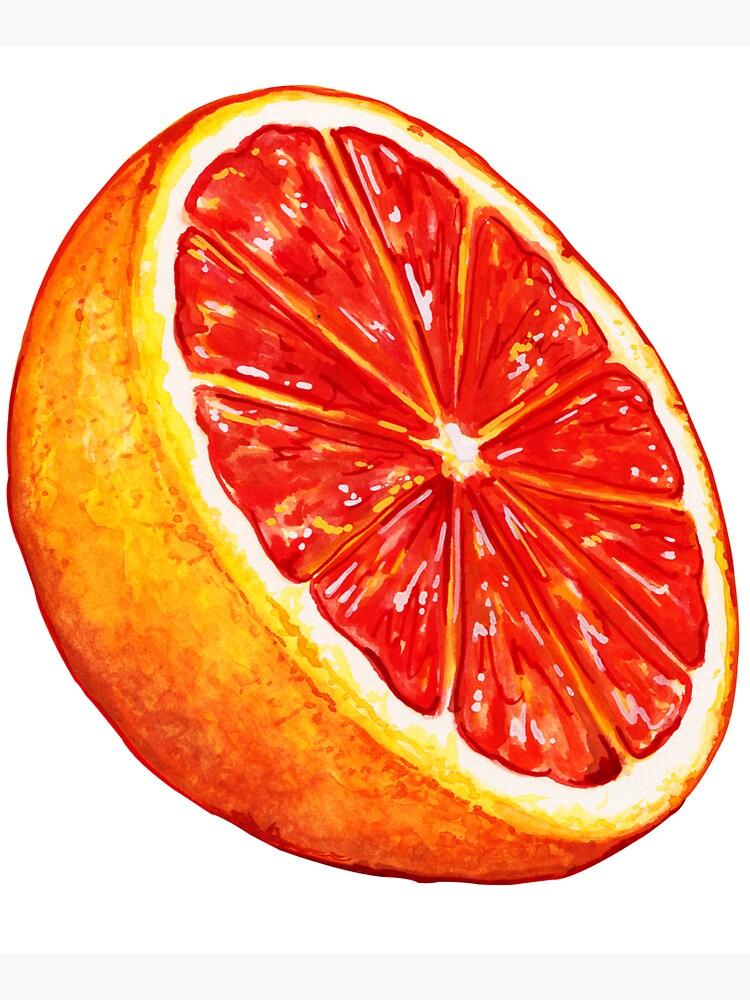 Grapefruit Pattern - Black by KellyGilleran
