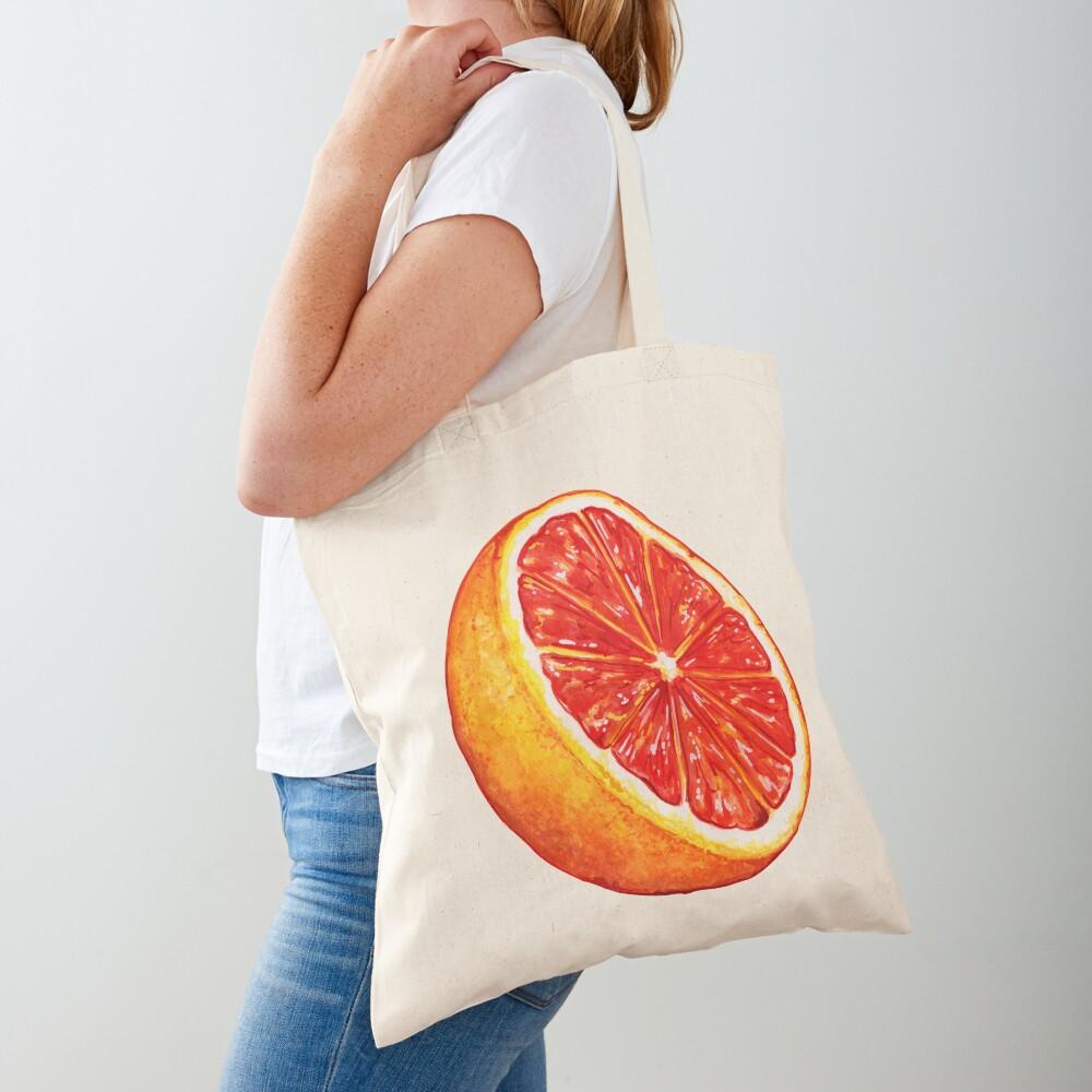 Grapefruit Pattern - Black Tote Bag