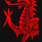 «Welsh Dragon - Red Hatching» de Garyck Arntzen