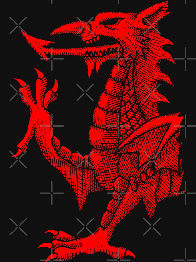 Welsh Dragon - Red Hatching de GrizzlyGaz