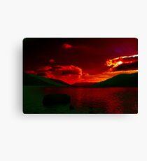 Red.....Loch Earn Canvas Print