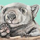 Lucy the Wombat - Teal by Meaghan Roberts