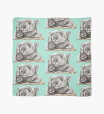 Lucy the Wombat - Teal Scarf