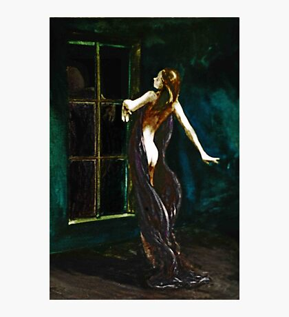The Dance; watercolors  (Phoenix mother, hands like clouds) Photographic Print