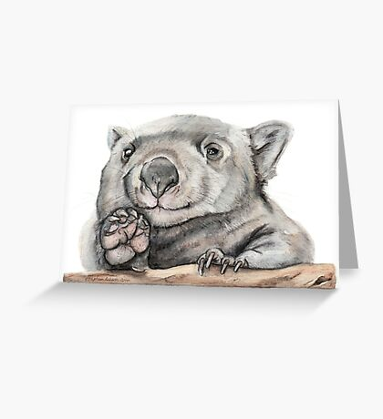 Lucy the Wombat Greeting Card