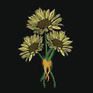 Sunflower Bouquet by Samm Poirier