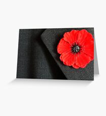 Remembrance Day poppy Greeting Card
