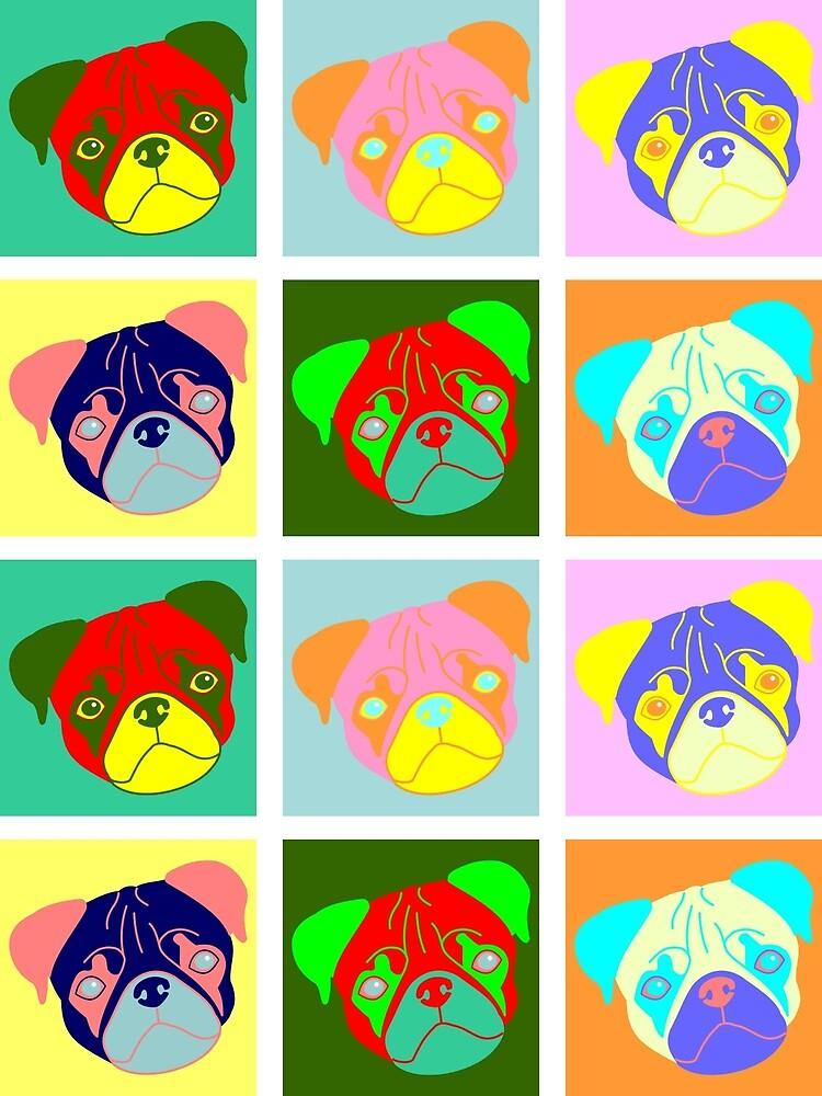 Pug Pop Art by pounddesigns
