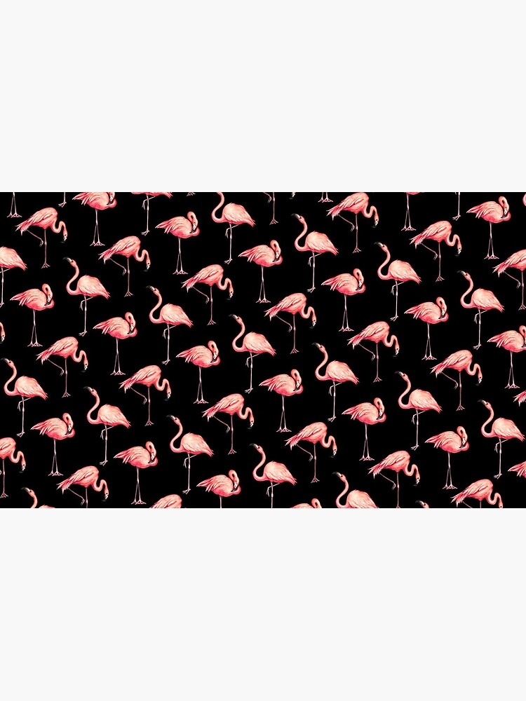 Flamingo Pattern - Black by KellyGilleran